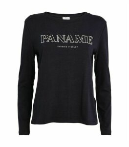 Claudie Pierlot Paris Logo Long-Sleeved T-Shirt