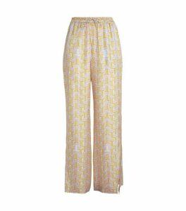 LANVIN Silk Printed Trousers