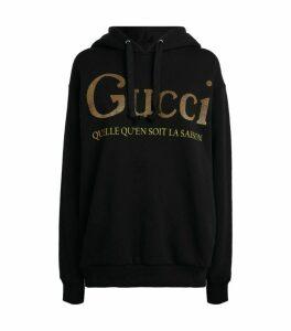 Gucci Slogan Hoodie