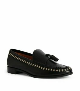 Sandro Paris Embellished Patent Leather Loafers