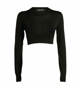Dolce & Gabbana Silk Knit Cropped Sweater