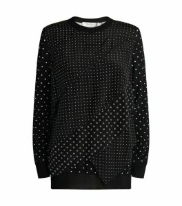 Max Mara Polka-Dot Ruffle Sweater