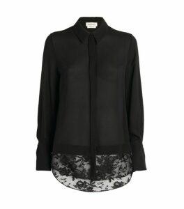 Alexander McQueen Lace-Hem Shirt