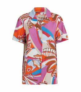 Emilio Pucci Cotton Abstract Print Shirt