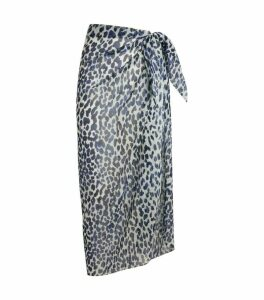 On The Island Leopard Tie-Front Sarong