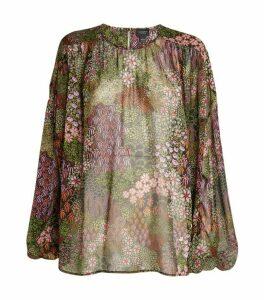 Giambattista Valli Silk Floral Top