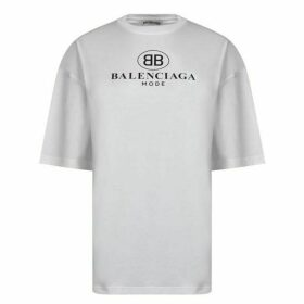 Balenciaga Mode Logo Oversized T Shirt