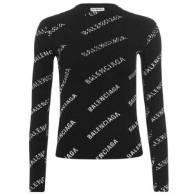 Balenciaga Long Sleeve Logo T Shirt