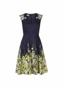 Delilah Dress Navy Multi