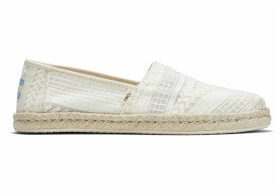 TOMS White Arrow Mesh Women's Classics Slip-On Shoes - Size UK4