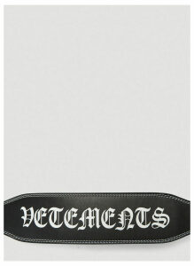 Vetements Logo Weightlifting Belt in Black size One Size