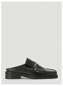 Martine Rose Chain Link Slip-On Shoes in Black size EU - 39