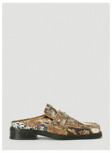 Martine Rose Python Embossed Chain Link Slip-On Shoes in Brown size EU - 40