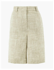 M&S Collection Tailored Linen Shorts