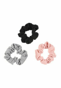 Womens 3pk Jersey Scrunchies