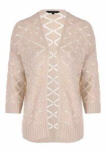 Womens Stone Crochet Cardigan
