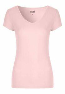 Womens Pink V-Neck T-Shirt