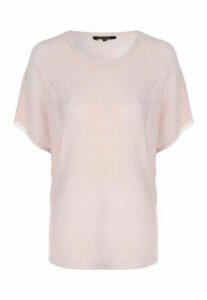 Womens Pink Short Sleeve Jumper