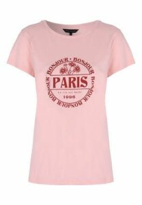 Womens Pink Paris Slogan T-Shirt