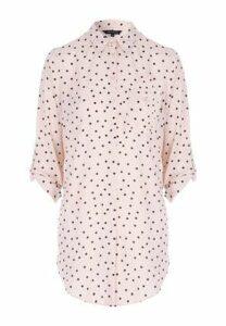Womens Nude Spot Longline Shirt