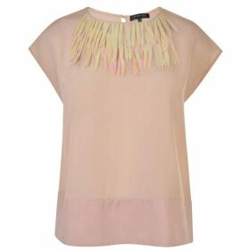 PATRIZIA PEPE Embellished Silk Top