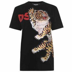 DSquared2 DSQ Tiger Apliq Tee Ld01