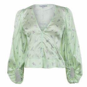 Ganni Silk Floral Blouse