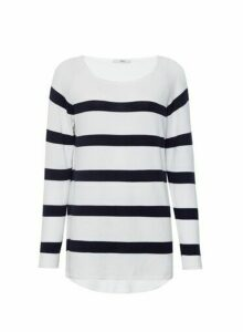 Womens Only Navy And White Stripe Jumper - Blue, Blue