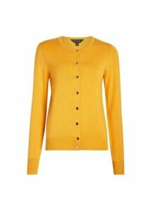 Womens Yellow Core Cardigan - Orange, Orange