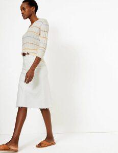 M&S Collection Denim Authentic Midi Skirt