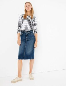 M&S Collection Denim Authentic Midi Skirt