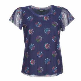 Desigual  VARSOVIA  women's T shirt in Blue