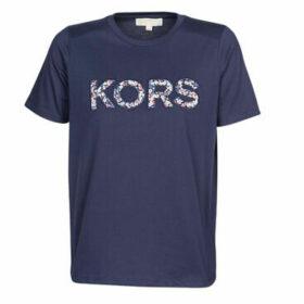 MICHAEL Michael Kors  KORS LOGO T-SHIRT  women's T shirt in Blue
