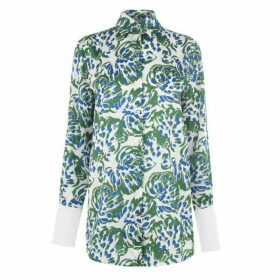 Victoria by Victoria Beckham Abstract Floral Shirt