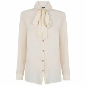 Gucci Button Bow Blouse