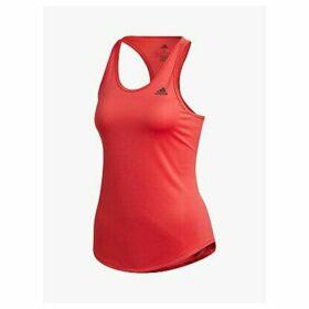 adidas Own The Run 3-Stripes PB Running Vest, Glory Red