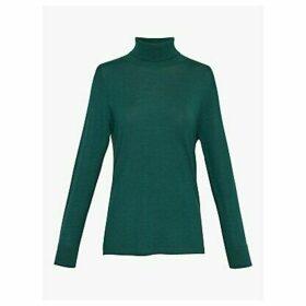 Gerard Darel Selma Polo Merino Wool Jumper, Green