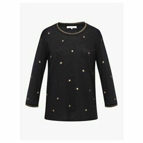 Gerard Darel Eden Star Long Sleeve T-Shirt, Black