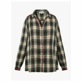 Gerard Darel Moon Check Cotton Shirt, Blue/Multi
