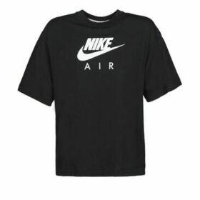 Nike  W NSW AIR TOP SS BF  women's T shirt in Black