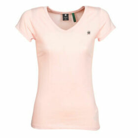 G-Star Raw  Eyben slim v t wmn ss  women's T shirt in Pink