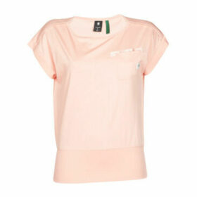 G-Star Raw  Noxer boat t wmn ss  women's T shirt in Pink