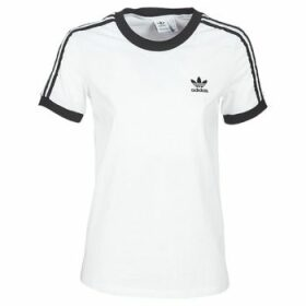 adidas  3 STR TEE  women's T shirt in White