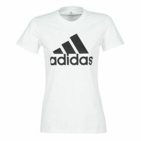 adidas  BOS CO TEE  women's T shirt in White