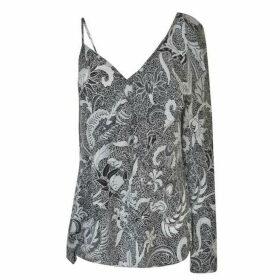 Diane Von Furstenberg Printed Asymmetrical Blouse
