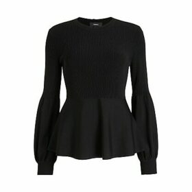 Theory Blouson Sleeve Jumper, Black
