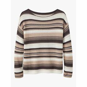 Pure Collection Stripe Boat Neck Jumper