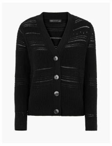 M&S Collection Pure Cotton Textured Cardigan