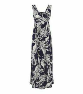 Mela Blue Paisley Bustier Maxi Dress New Look