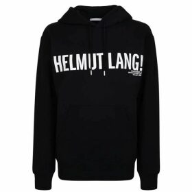 Helmut Lang Logo Hooded Sweatshirt